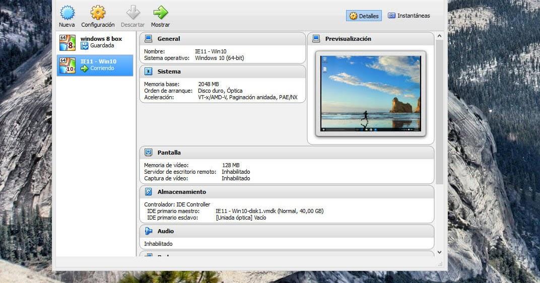 Ejecutar Windows 10 | VirtualBox o VMWare | Sin