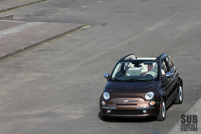 Fiat 500c in a parking lot