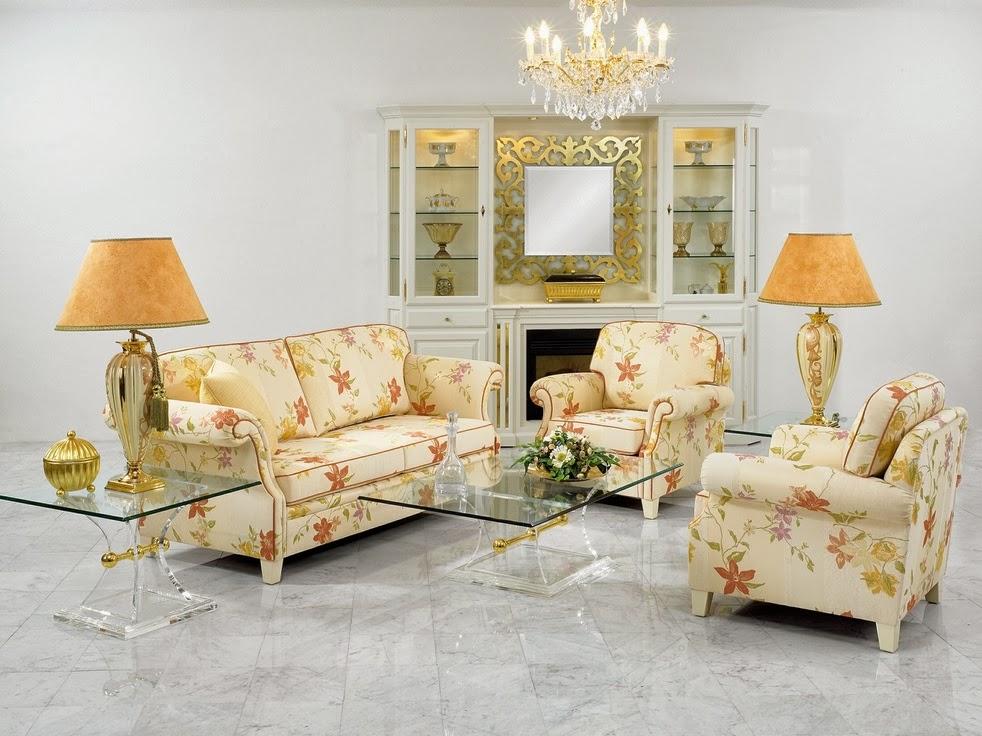 Decoraci n de salas florales salas con estilo for Decoracion salas clasicas