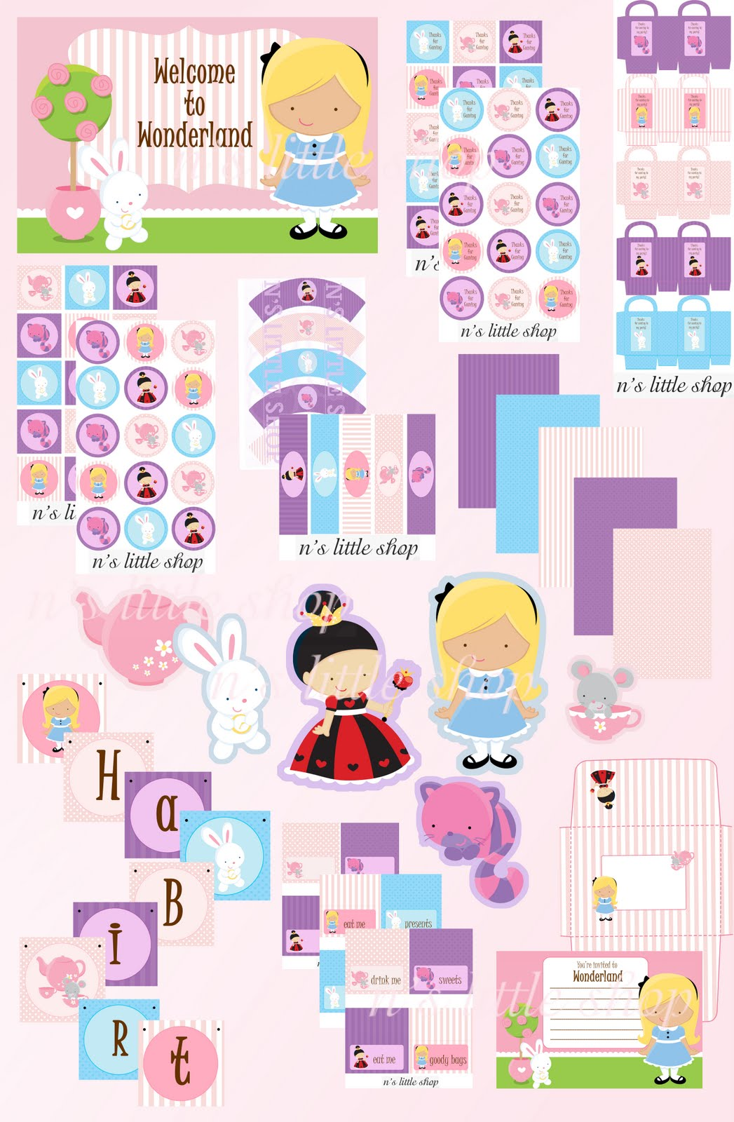Alice in Wonderland Party Printables 1047 x 1600 · 243 kB · jpeg