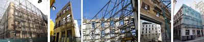 Fachadismo en edificios históricos del centro de Málaga