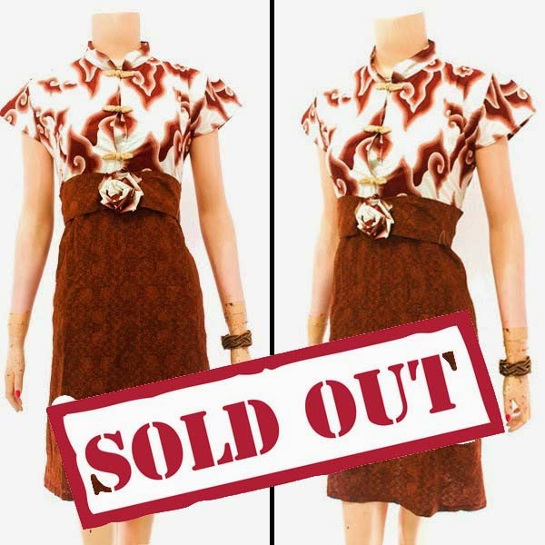 Dress Batik Motif Mega Mendung