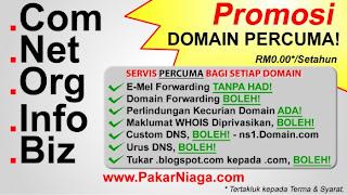 promosi, domain percuma , hosting percuma, free, masih berlangsung, pusingan ke-6.
