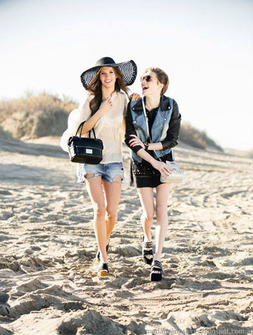 Moda primavera verano 2015 carteras, bolsos y sandalias de cuero XL primavera verano 2015.