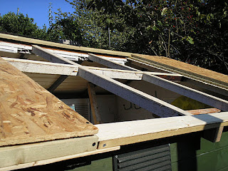 Side pannels formed from cladding, frame and OSB