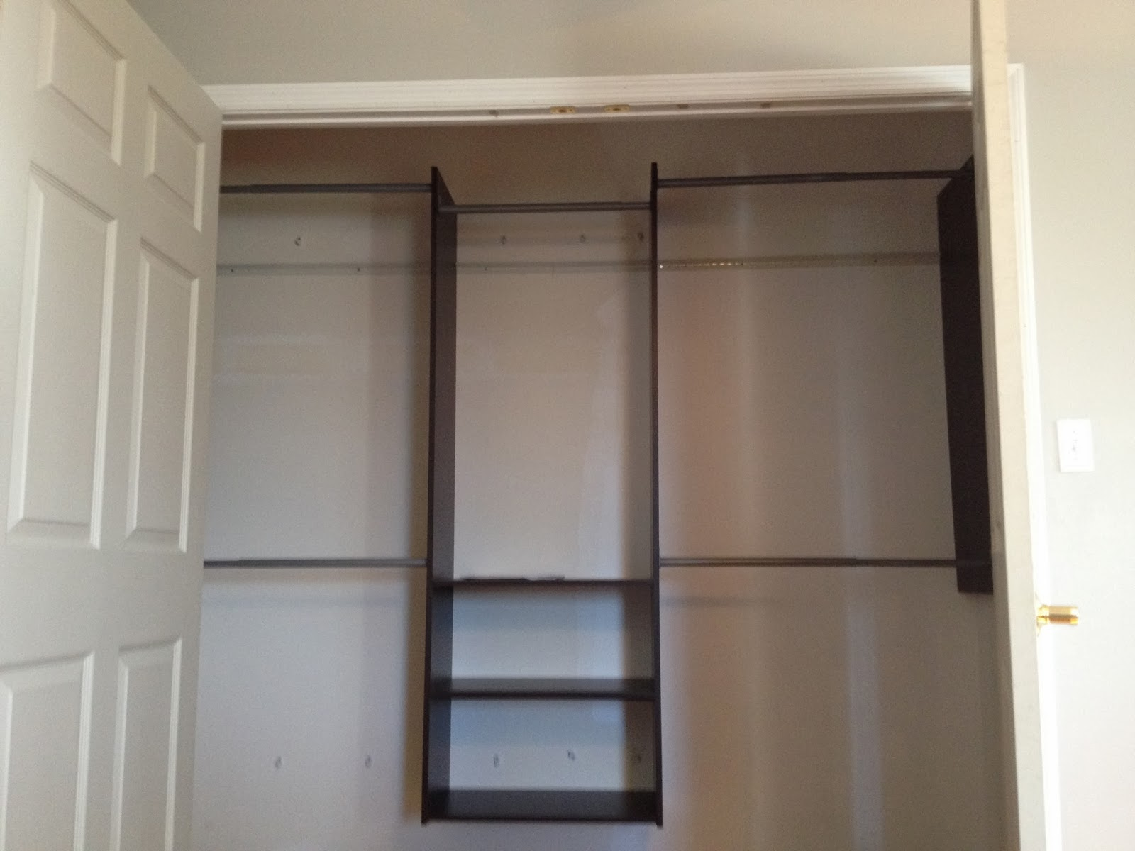 Our Clothes Fit Easily Thanks To The Double Rods On Both Sides Of The  Center. We Were Planning On Hanging Clothes On That Top Middle Rod Too, But  We Didnu0027t ...