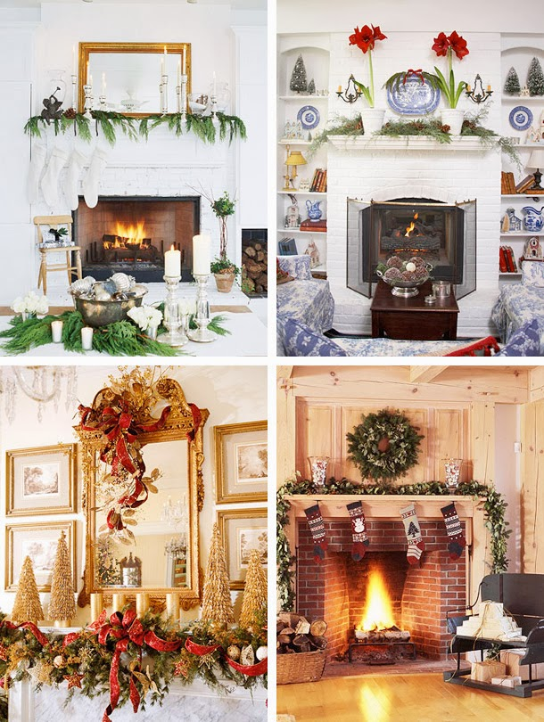 Mantel christmas decorating ideas for Decorate christmas ideas your home