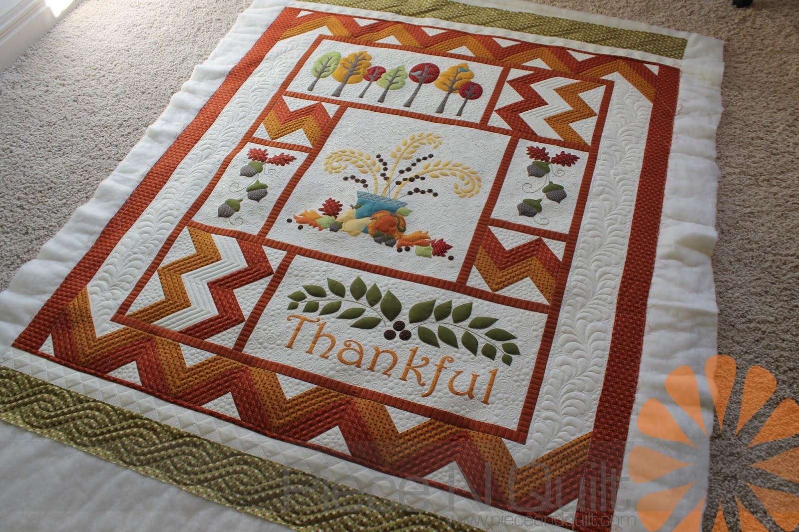 Piece N Quilt: Thankful - A Fall Quilt - Custom Machine Quilting ... : quilting pieces - Adamdwight.com