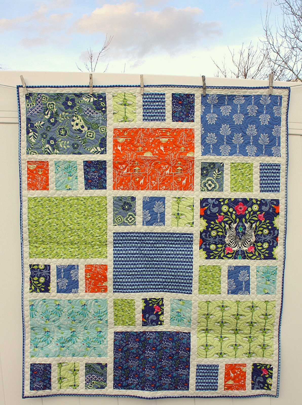 Quilt Pattern Using Focus Fabric : Safari Moon - new Art Gallery Fabrics quilt - Diary of a Quilter - a quilt blog