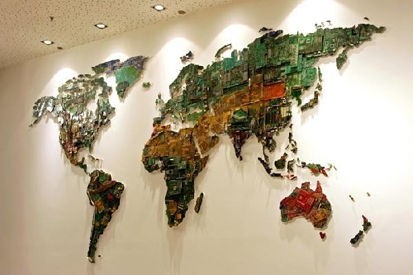 Mapa Swiata na Sciane na Ścianę Mapa Świata