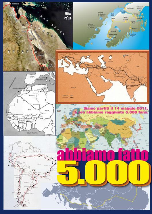 """5.000 FAN DI """"SULLE VIE DEL MONDO"""""""