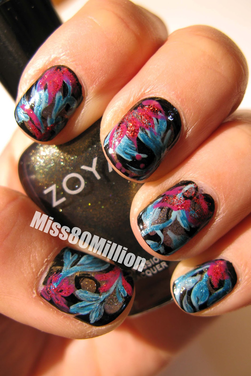 Miss80million Nail Design Inspired By Katy Perrys Dress From The