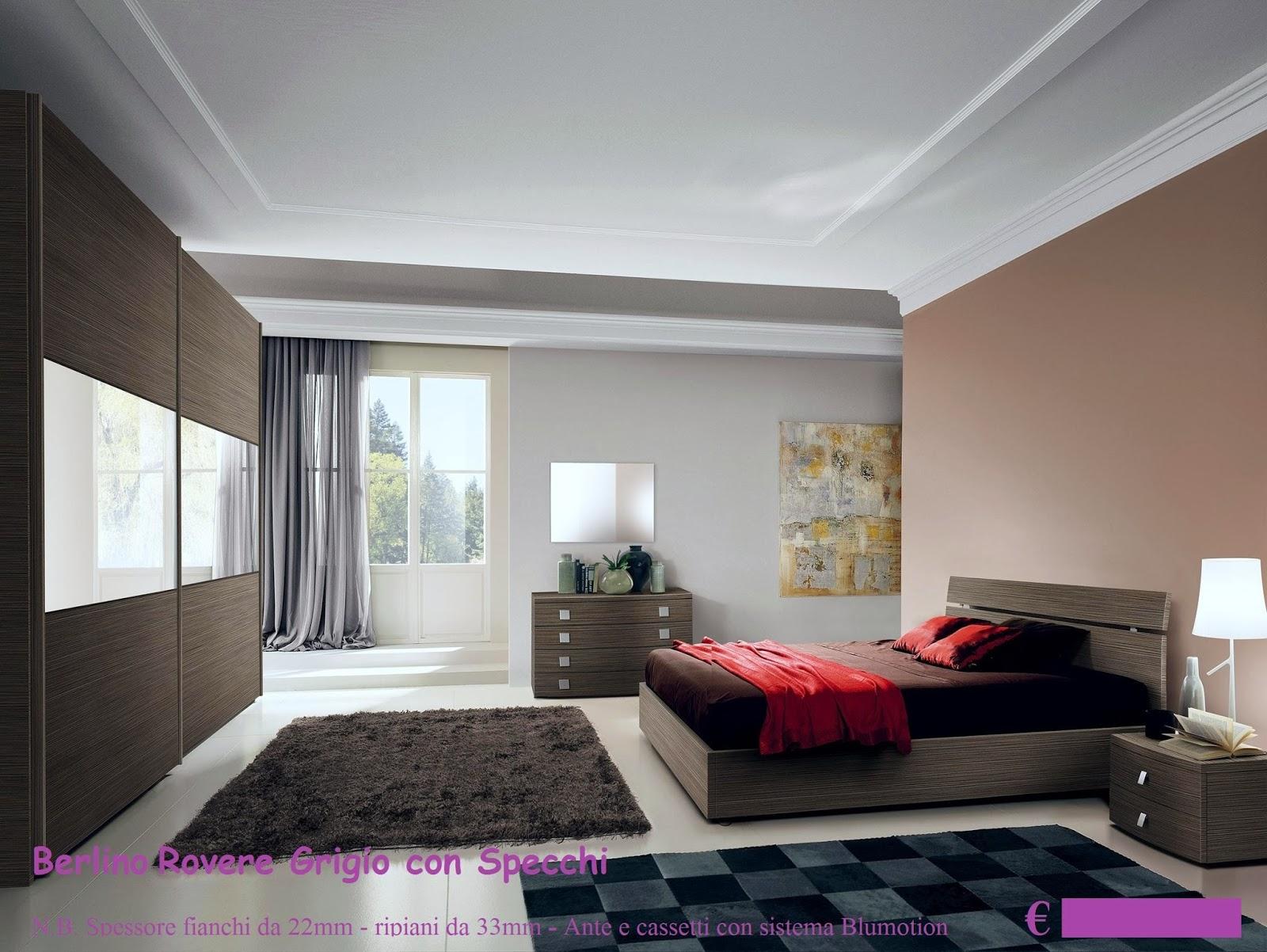 Camera Da Letto In Rovere Grigio : Camera da letto matrimoniale euro con trasporto e montaggio