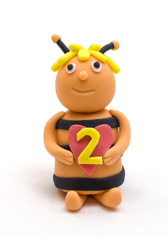 Bee Maya fondant figure finished