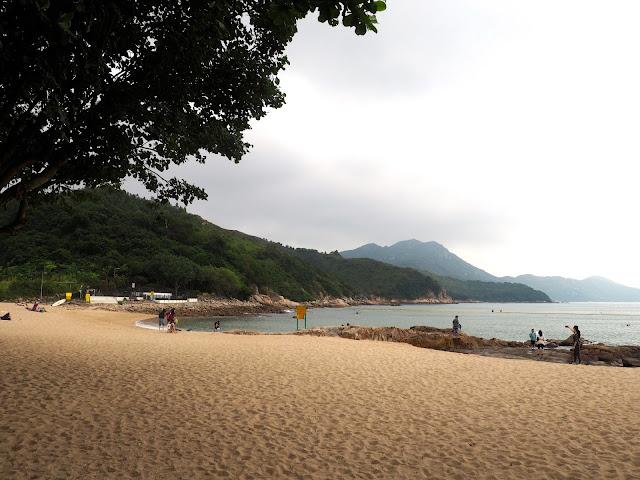 First view of Hung Shing Yeah beach, Lamma Island, Hong Kong