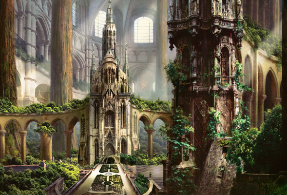 Magimar: The city of guilds, Part 1 Temple_garden_art_by_rob_alexander