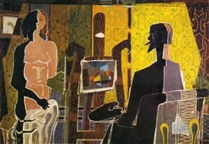 Georges Braque - L'artiste et son modèle,1939.