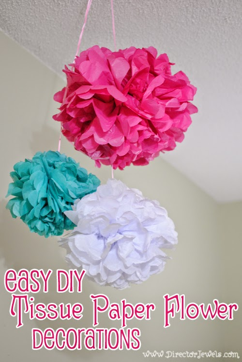 Easy DIY Tissue Paper Flower Poof Decorations