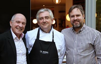 Javier Gila, Chef Christophe País y Juanma Terceño. Blog Esteban Capdevila
