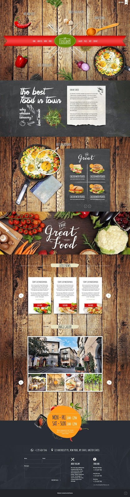Responsive WordPress Theme for Restaurant