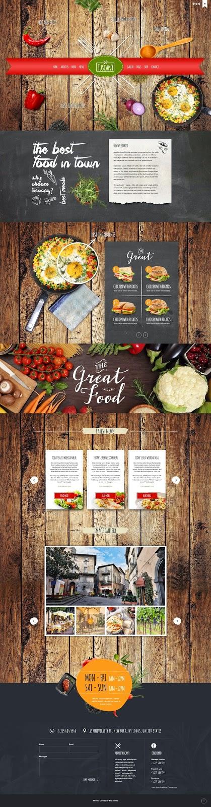 Responsive WordPress Theme for Restaurant
