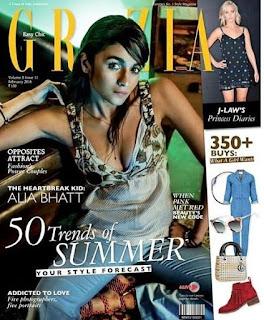 Alia Bhatt on the Cover Page of Grazia magazine February 2016