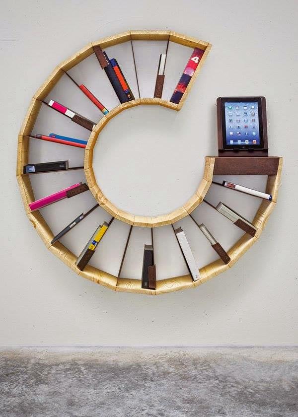 ideas de diseño libreros circulares