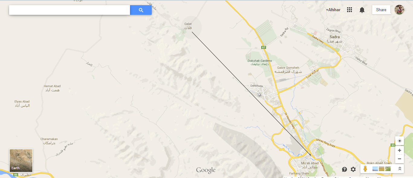 Map Location Of GhalatQalat Up Up and Away in Shiraz