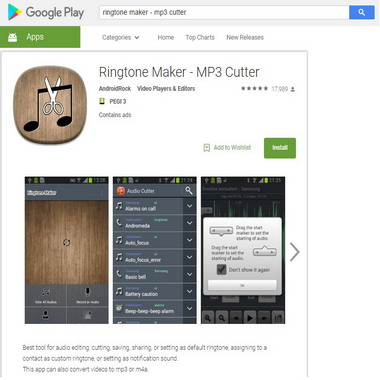 play google com - store - ringtone maker - mp3 cutter