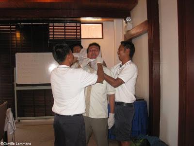 EFR course, Imperial Boathouse, Choengmon, Koh Samui, Thailand bandaging Banyan Tree style