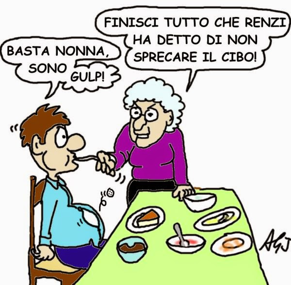 Renzi, cibo, umorismo