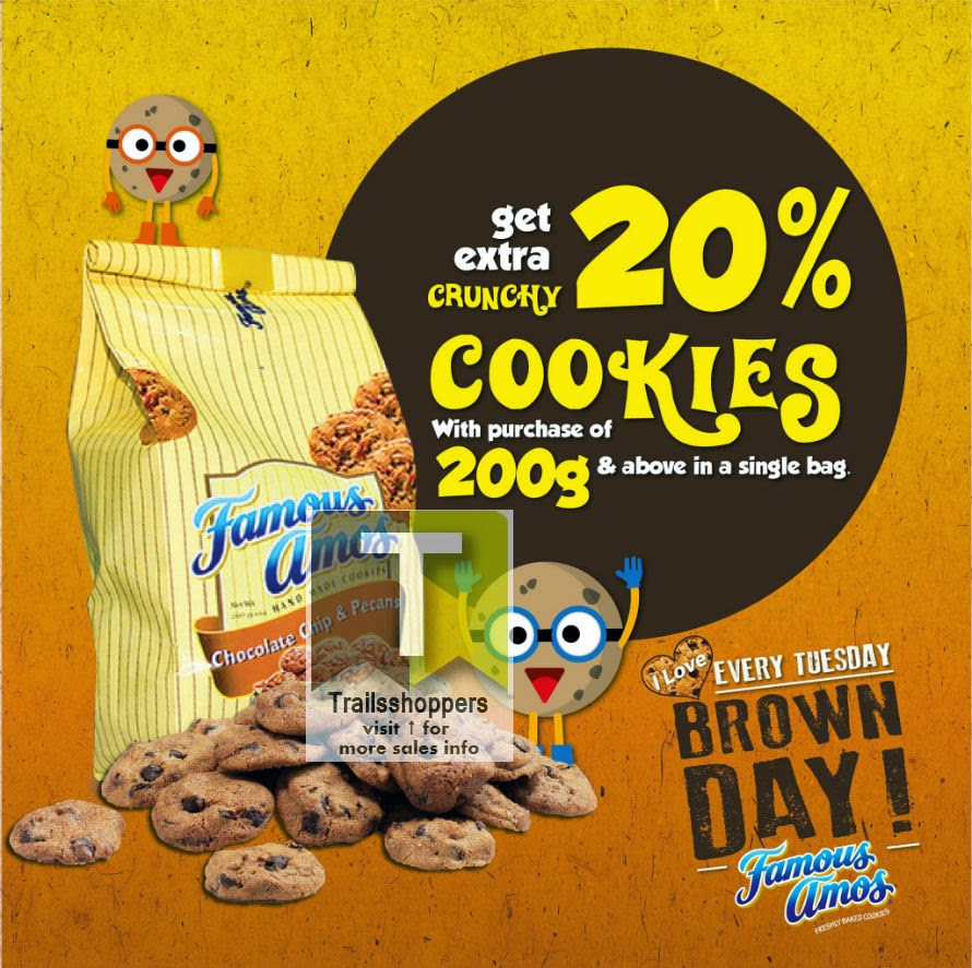 Famous Amos Malaysia Cookies Deal Offer Promotion Sale