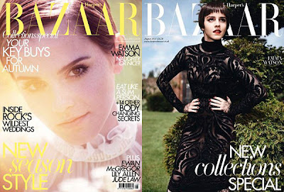 emmacover0 Emma Watson Covers Harpers Bazaar UK August 2011