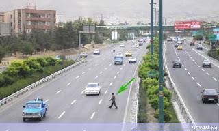 Man crossing