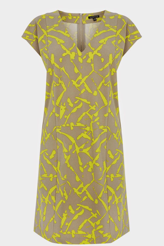 yellow pattern warehouse dress