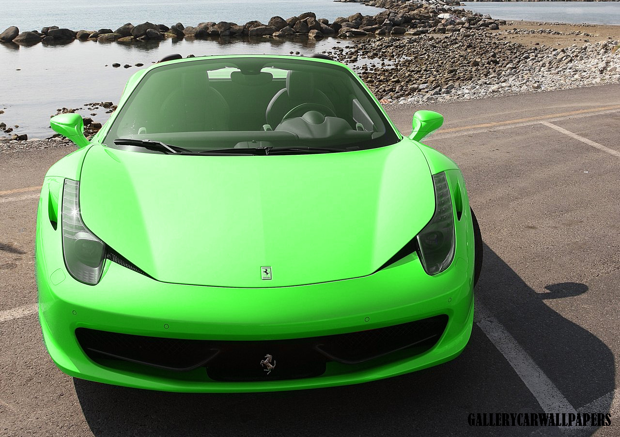 gallery ferrari 458 spider green ferrari car 2015 - Ferrari 458 Spider Green