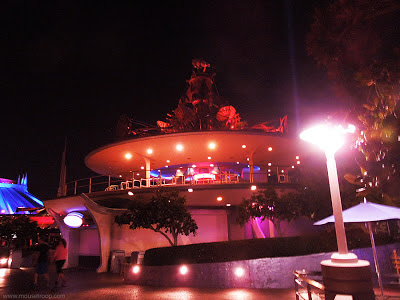 Disneyland Rocket Rods PeopleMover station tower empty