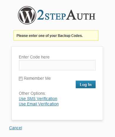 WordPress to key step