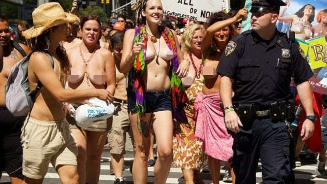[Pics] Thousands Of Women Go Nay-Ked for The International 'Go Topless Day'! It's Very Very RAUNCHY!!