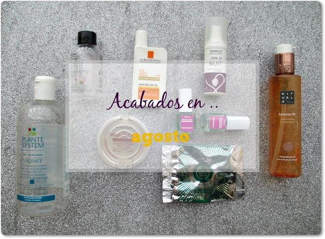 Productos Acabados: Deliplús, La Roche Posay, Rituals, The Body Shop