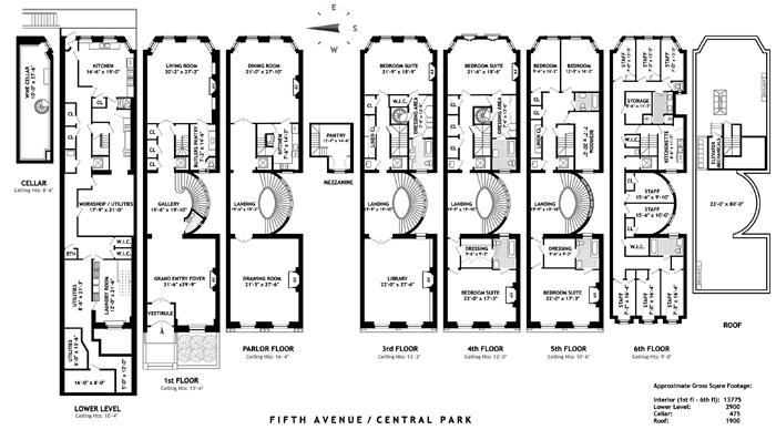 Mansion with Servants Quarters Floor Plans