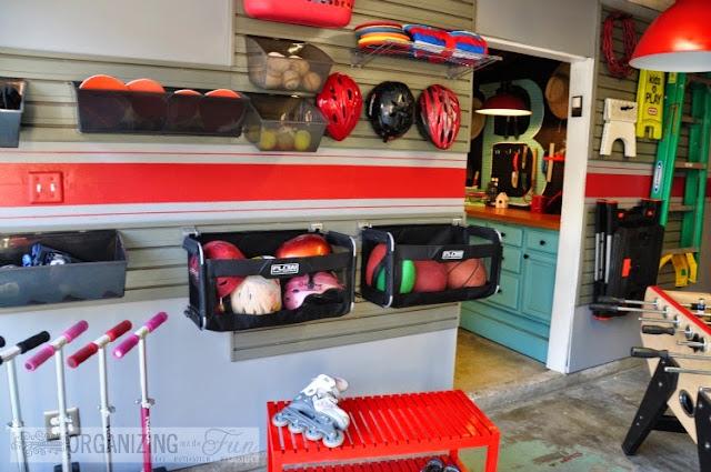 Garage Wall Organizer :: OrganizingMadeFun.com