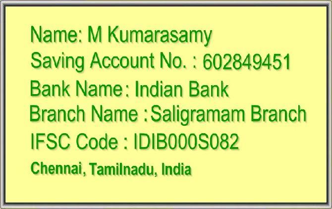 INDIAN BANK,IFSC CODE,SALIGRAMAM,CHENNAI,TAMIL NADU,INDIA