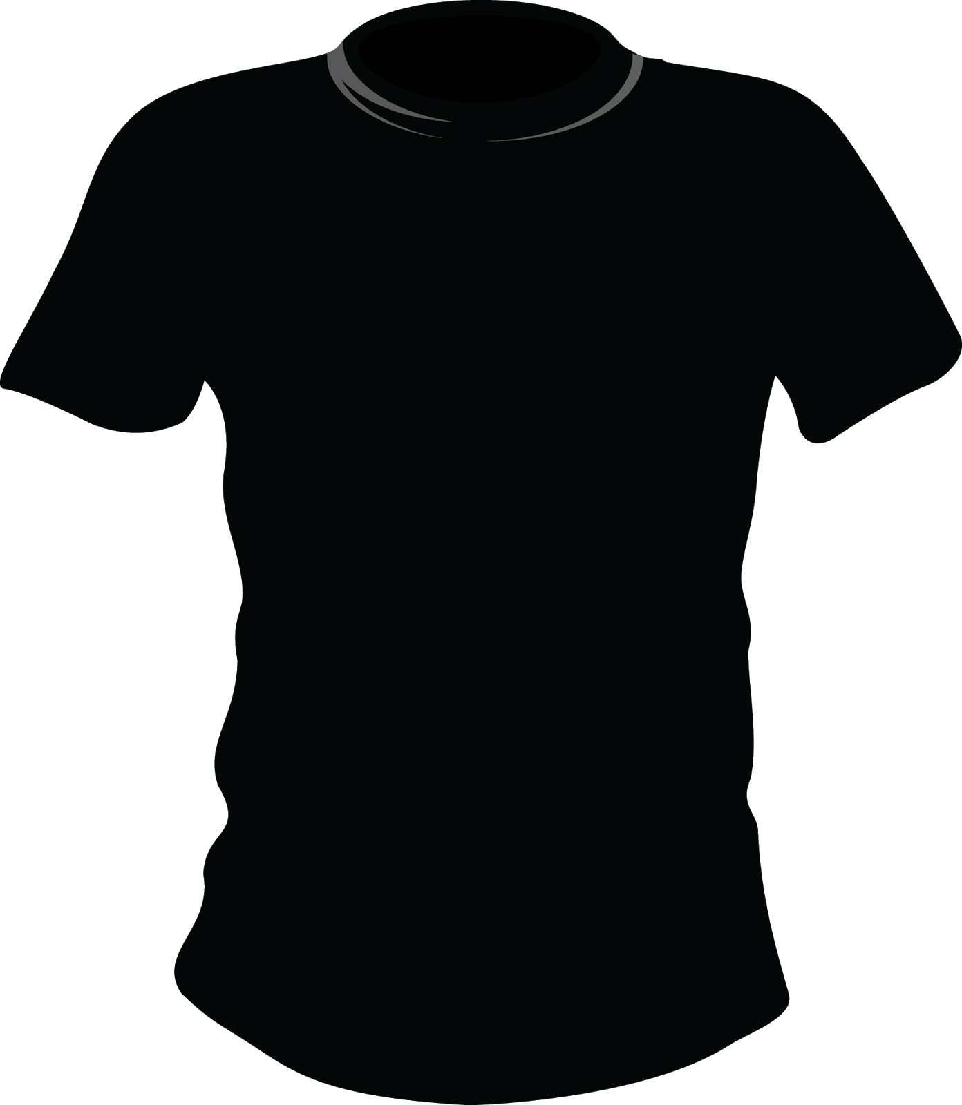 black t shirt vector - photo #7