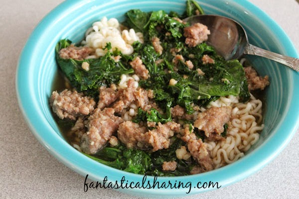 Spicy Pork & Kale Soup | A little bit of heat with your kale, this soup will warm you right down to the core in the upcoming cold months #soup #kale #recipe