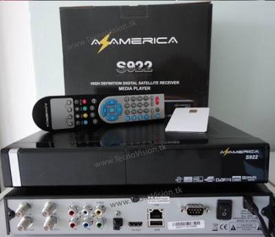ATUALIZAÇÃO AZAMERICA S922 HD P/ SKS - V01_011