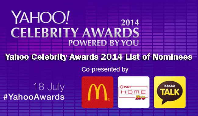 Yahoo Celebrity Awards 2014 List of Nominees