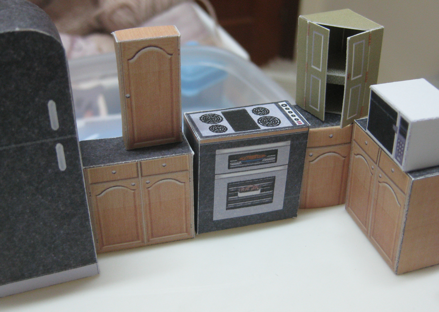 Kitchen Dollhouse Furniture Similiar Mini Paper Furniture Keywords