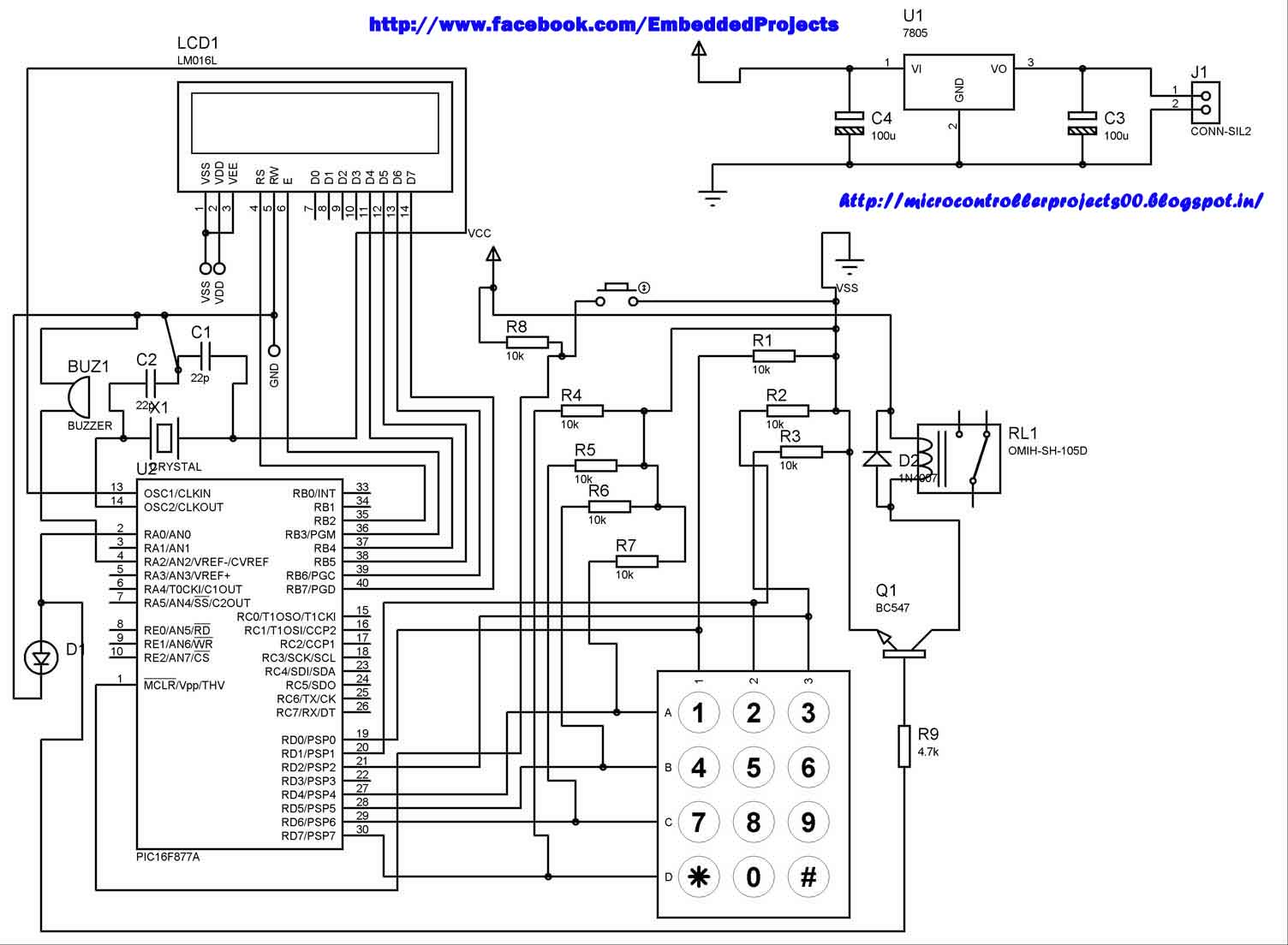 Pic Microcontroller Based Electronic Lock 8 Bit Block Diagram Embedded Systems Blog
