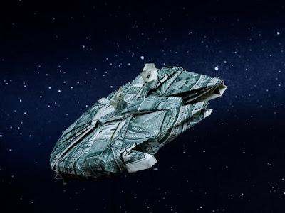Seni Lipat Origami Terkeren millenium falcon
